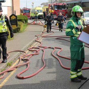 Firefighters attending an incident