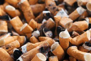 Stubbed out cigarettes