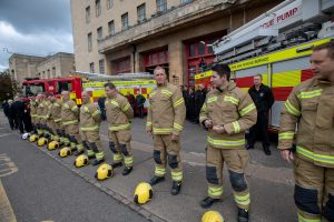 Firefighters gather at The Mounts Fire Station to mark Firefighters Memorial Day