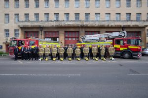 Firefighters hold a minute's silence to mark Firefighters Memorial Day