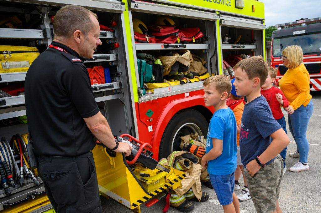 Recent emergency services day at Daventry