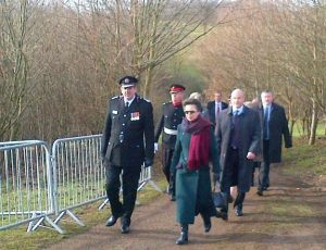 Unveiling of memorial by Princess Anne 07 February 2013