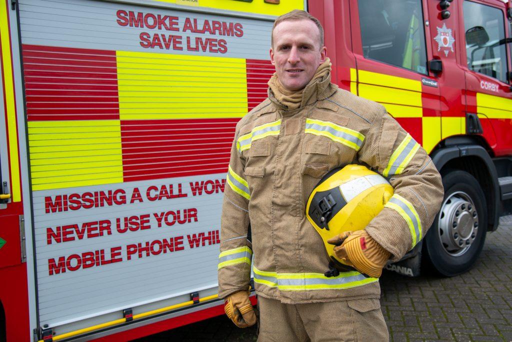 Firefighter Mark Hackett