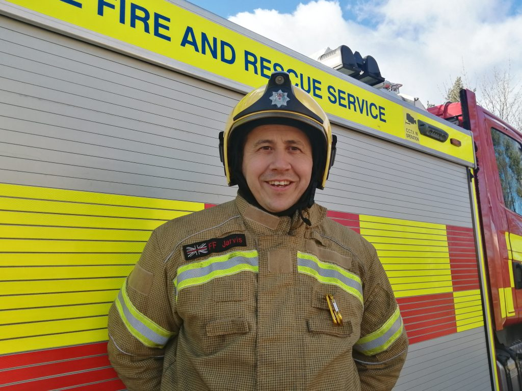 On-call firefighter Ian Jarvis