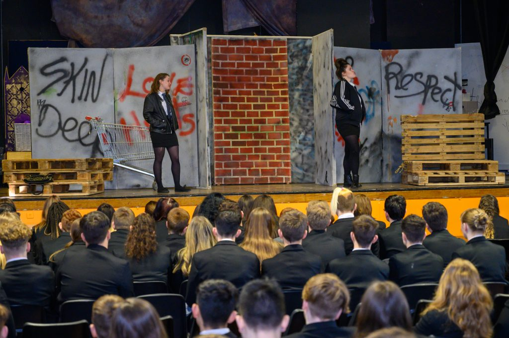 Skin Deep was performed to students at Weavers Academy