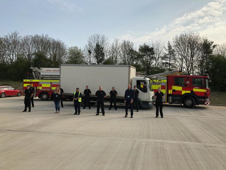 Firefighters support food delivery project