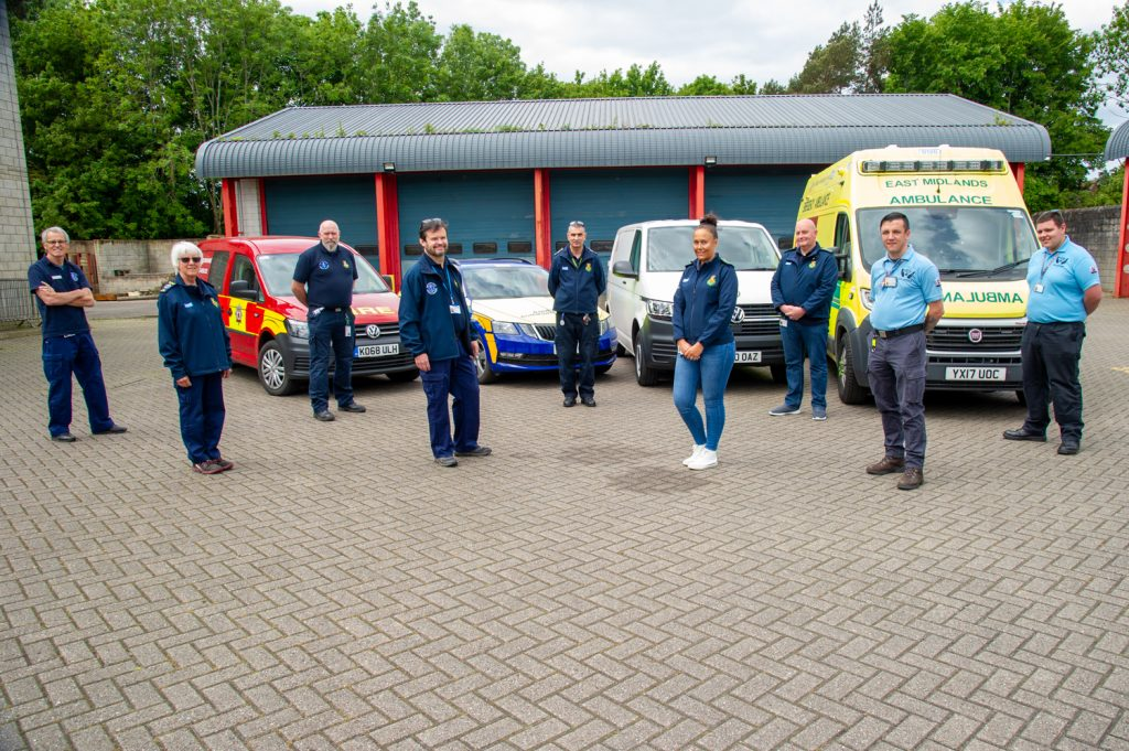 Group photo of some of the Northamptonshire Emergency Services Volunteers