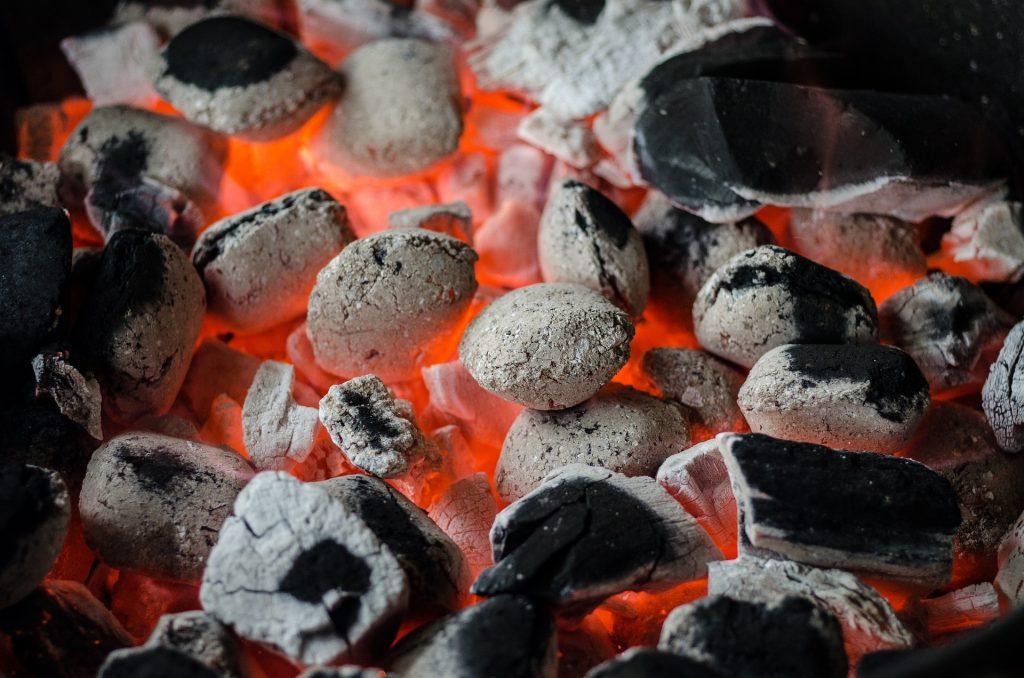 Barbecue coals