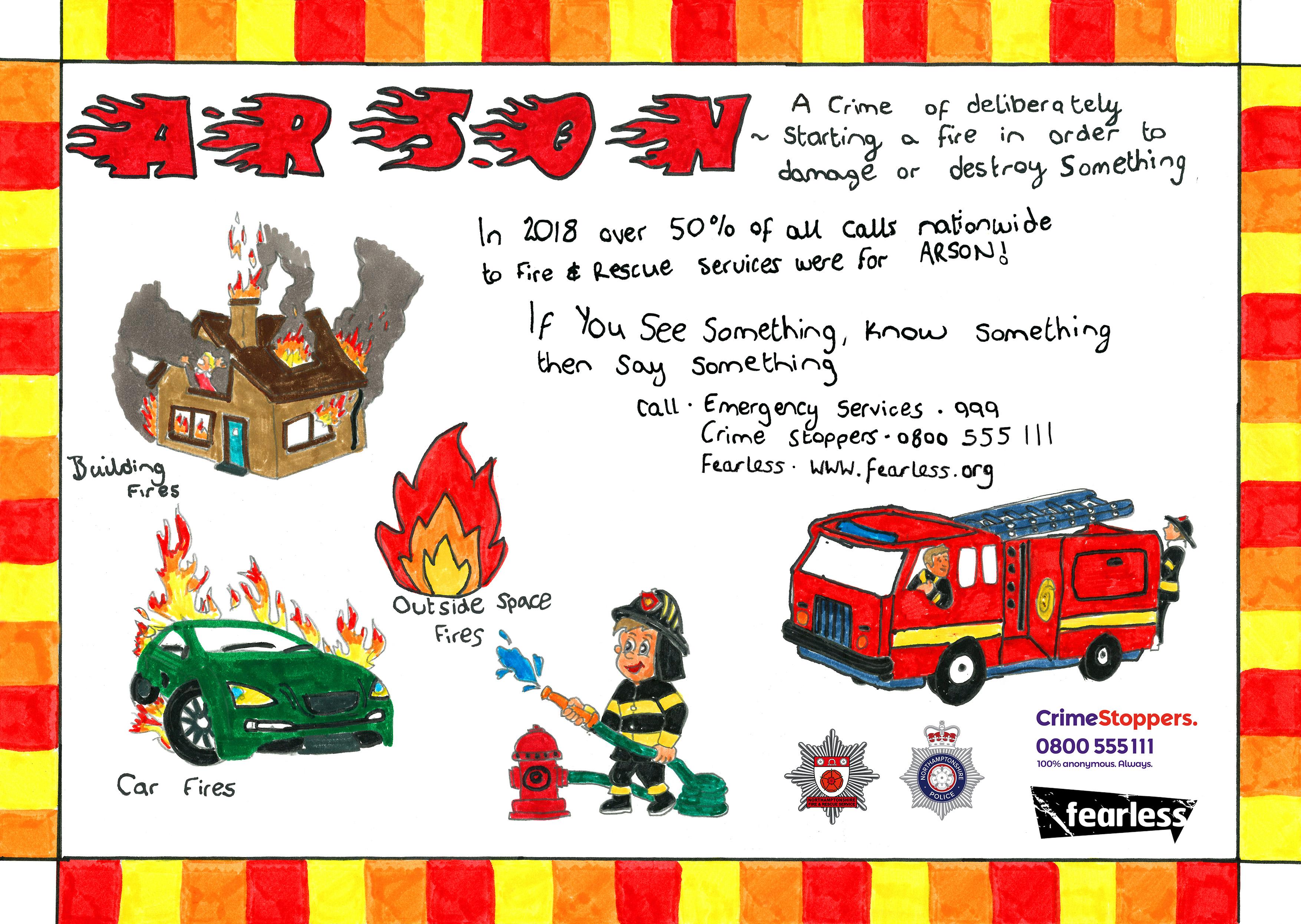 A designed arson poster by Callum Stewart