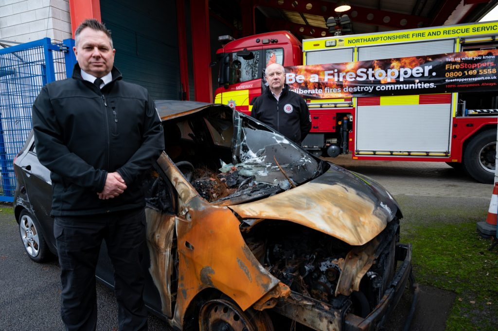 Chief Fire Officer Darren Dovey with Police, Fire and Crime Commissioner Stephen Mold
