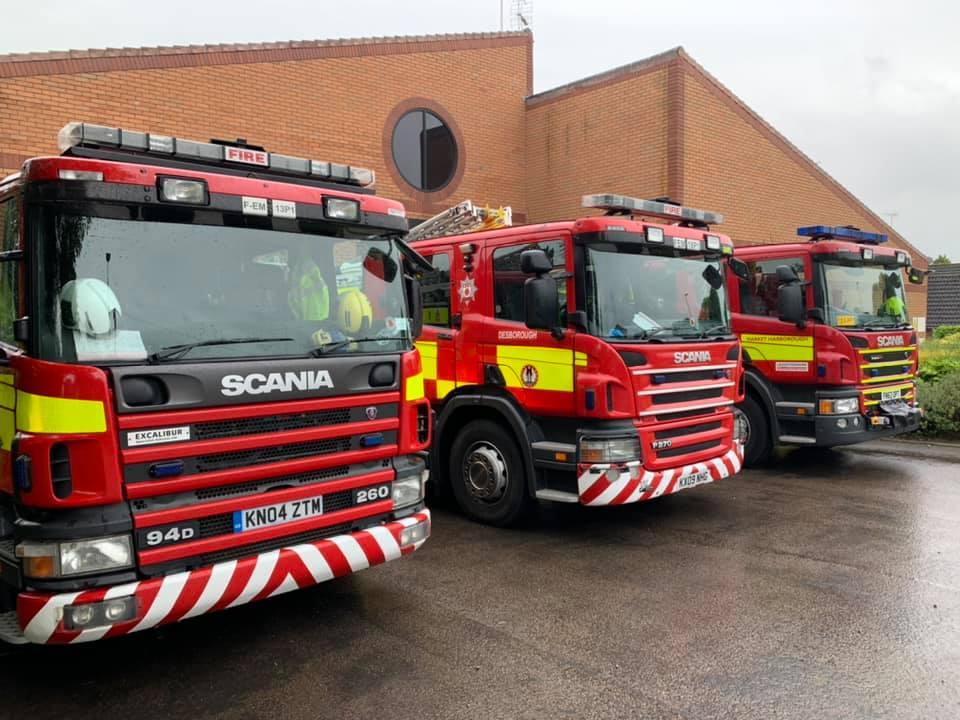Desborough Fire Station and appliances